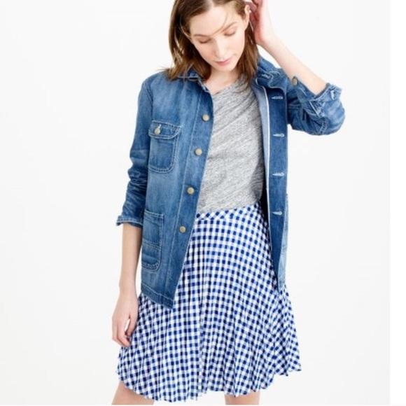 J. Crew Dresses & Skirts - J. Crew Blue and White Gingham Skirt